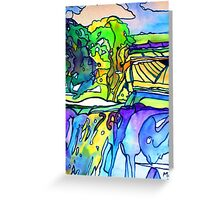 Trees and Sea Greeting Card