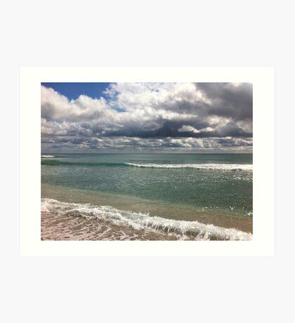 beach storm 4 Art Print