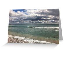 beach storm 4 Greeting Card