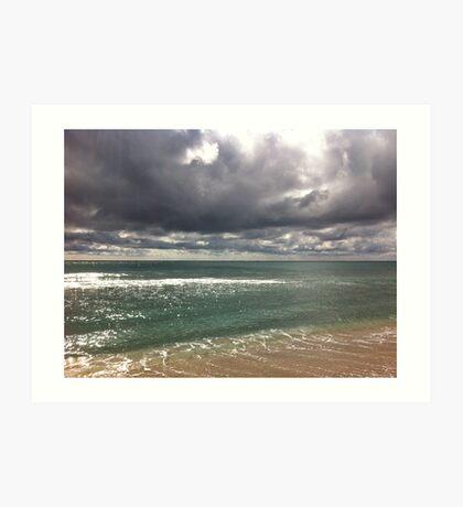 beach storm 6 Art Print