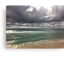 beach storm 6 Canvas Print