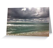 beach storm 6 Greeting Card