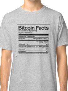 Bitcoin Facts Classic T-Shirt