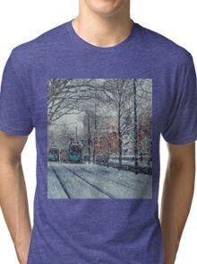 Never ending winter. Brookline, MA Tri-blend T-Shirt