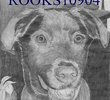 Black Labrador Retriever DOG ART PRINT by rooks10904