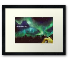star trek christmas Framed Print