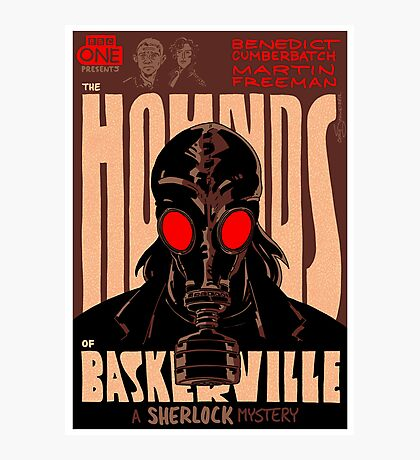 Vintage Poster - The Hounds of Baskerville Photographic Print