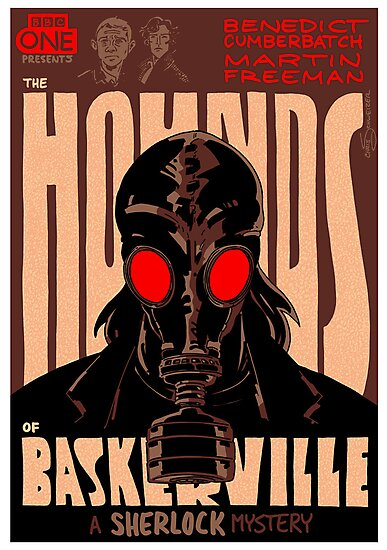 Vintage Poster - The Hounds of Baskerville by Chris Schweizer
