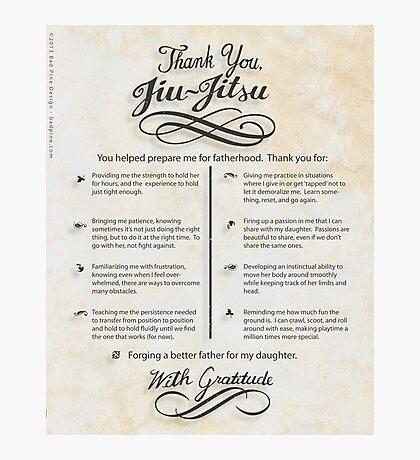 The TYJJ Manifesto (Thank You Jiu-Jitsu) DAUGHTER Photographic Print