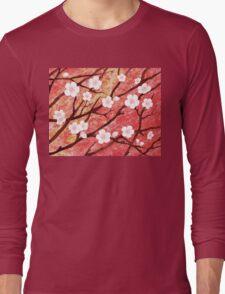 White Blossoms Sunrise Long Sleeve T-Shirt