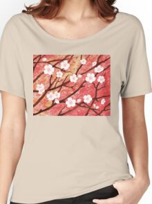 White Blossoms Sunrise Women's Relaxed Fit T-Shirt