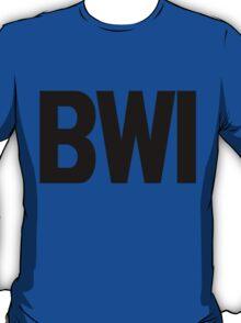 BWI Baltimore Washington International Airport Black Ink T-Shirt