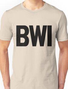 BWI Baltimore Washington International Airport Black Ink Unisex T-Shirt
