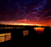 Trent Lock Sunset,Nottinghamshire,England by cameraimagery