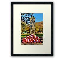 Rememberance Sunday Castle Park Framed Print