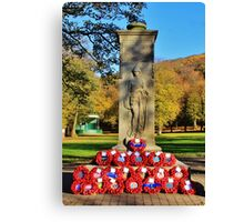 Rememberance Sunday Castle Park Canvas Print