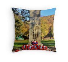 Rememberance Sunday Castle Park Throw Pillow