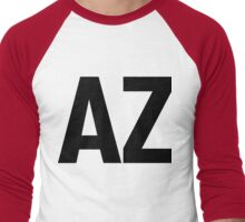 Arizona AZ Black Ink Men's Baseball ¾ T-Shirt
