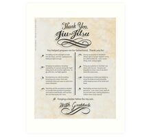 The TYJJ Manifesto (Thank You Jiu-Jitsu) SON Art Print