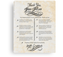 The TYJJ Manifesto (Thank You Jiu-Jitsu) NEUTRAL/PLURAL    Canvas Print