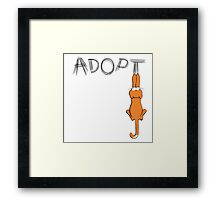 Adopt Cats Dark Claw Marks | Patch & Rusty™ Framed Print