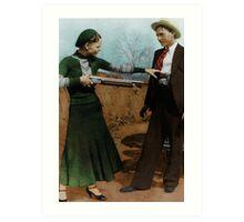 Bonnie & Clyde Colorized Art Print