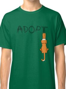 Adopt Cats Dark Claw Marks | Patch & Rusty™ Classic T-Shirt