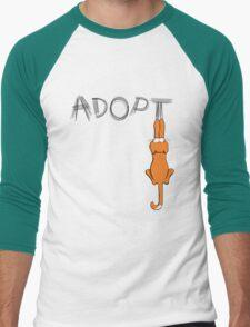 Adopt Cats Dark Claw Marks | Patch & Rusty™ Men's Baseball ¾ T-Shirt