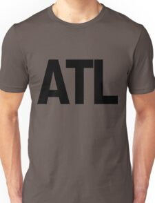 ATL Atlanta Black Ink Unisex T-Shirt