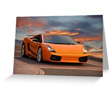 2008 Lamborghini Gallardo Superleggera II Greeting Card