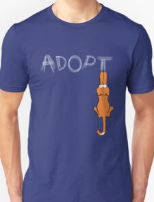 Adopt Cats Light Claw Marks | Patch & Rusty™ Unisex T-Shirt