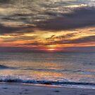 Waves Break at Dawn, Beach Sunrise by Michele Ford