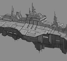 Black Falcon Class Destroyer by Rasmus Quist