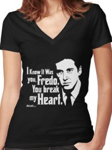 Michael Corleone (The Godfather Part 2) Women's Fitted V-Neck T-Shirt