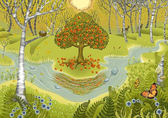 Magic forest by Ruta Dumalakaite