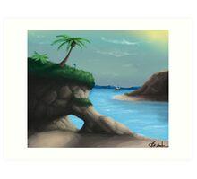 Black Flag Carribean Sea Art Print