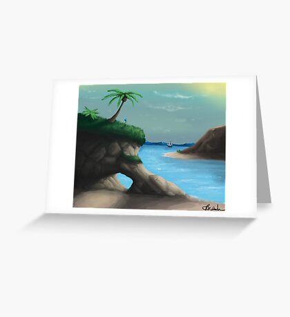 Black Flag Carribean Sea Greeting Card