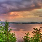 Storm over the Bay, Lake Champlain Vermont by Michele Ford