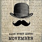 Moustache and Bowler Hat - Movember by claryce84