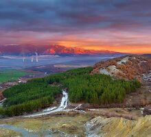 Sunset over Rila Mountain by Ivo Velinov