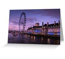 London Eye at Twilight Greeting Card