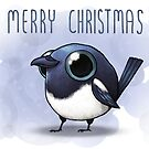 Merry Magpie Christmas  by Demmy