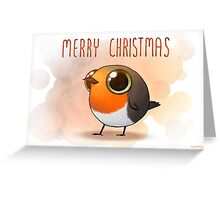 Merry Robin Christmas Greeting Card