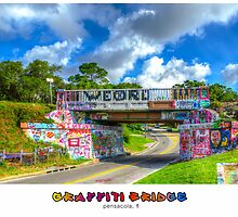 Graffiti Bridge - A Pensacola Landmark (wText) by Greg Riegler