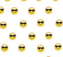 Sunglasses emoji pattern by michaelcera
