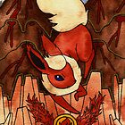 Eeveevolution Series - Flareon by Jazmine Phillips