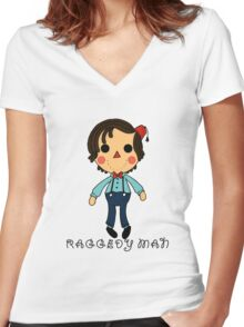 Raggedy Man Women's Fitted V-Neck T-Shirt