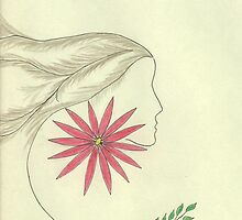Spirit Woman and Flower by Ruth Evelyn