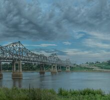 Mississippi River Bridge at Natchez, MS by ronburt