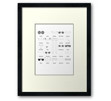 Specs Appeal Inverted Framed Print